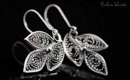 Agnieszka Wilczyńska-Jaroch - earrings (leaves)