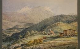Artysta nieznany - Widok na Śnieżkę (Karkonosze), 1897