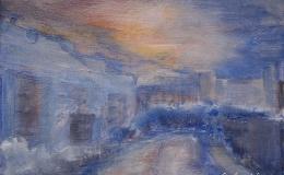 Lewińska Anna - Osiedle Widok o zachodzie słońca
