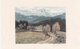 Iwan Friedrich - Widok na Śnieżkę