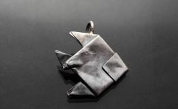 Tamborska Iwona - origami fish (pendant)