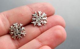Tamborska Iwona - Snowflakes (earrings)