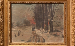 Soldinger Antoni - Pejzaż zimowy o zachodzie słońca